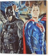 Batman V Superman Wood Print