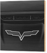 Batmans Corvette Wood Print