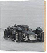 Batmobile Snowtour Wood Print
