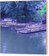 Batteaux At Cartersville Landing 1095t Wood Print