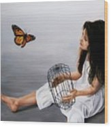 Batterfly Wood Print
