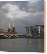 Battersea Park Wood Print