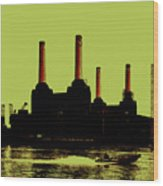Battersea Power Station London Wood Print by Jasna Buncic