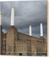 Battersea Power Station, London, Uk Wood Print by Johnny Greig