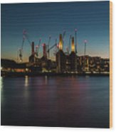 Battersea Power Station On The Thames, London Wood Print