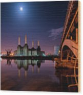 Battersea Power Station Wood Print