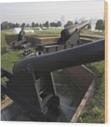 Battery Of Cannons At Fort Mchenry Wood Print