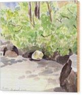 Battery Park City Cove Wood Print