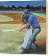 Batting Coach Wood Print by Pat Burns