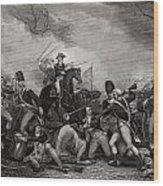 Battle At Princeton New Jersey Usa 1775 Wood Print