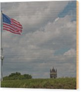 Battle Flag Wood Print