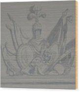Battle Flags Wood Print