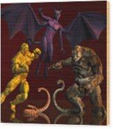 Battle Of Good Vs Evil Wood Print