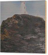 Battle Island Lighthouse Wood Print