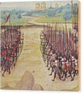 Battle Of Agincourt, 1415 Wood Print by Granger