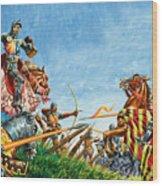 Battle Of Agincourt Wood Print