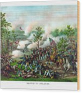 Battle Of Atlanta Wood Print