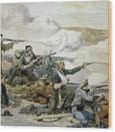 Battle Of Beecher's Island Wood Print