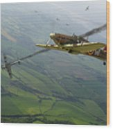 Battle Of Britain Dogfight Wood Print