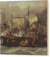 Battle Of Cape St Vincent Wood Print
