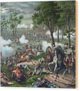 Battle Of Chancellorsville - Death Of Stonewall Wood Print