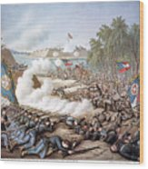 Battle Of Corinth, 1862 Wood Print by Granger