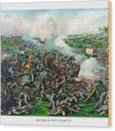 Battle Of Five Forks Wood Print