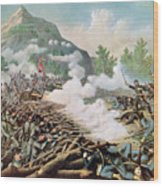 Battle Of Kenesaw Mountain Georgia 27th June 1864 Wood Print by American School