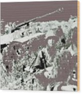 Battle Of Kursk Tiger Tank 1943 Color Added 2016 Wood Print