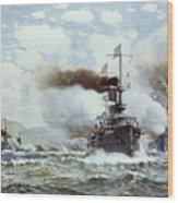 Battle Of Manila Bay 1898 Wood Print