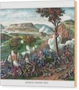 Battle Of Missionary Ridge Wood Print