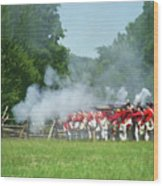 Battle Of Monmouth-redcoats Wood Print