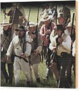Battle Of San Jacinto Wood Print