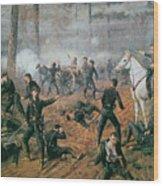 Battle Of Shiloh Wood Print by T C Lindsay