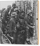 Battle Of Stalingrad  Nazi Infantry Street Fighting 1942 Wood Print