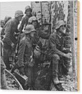 Battle Of Stalingrad  Nazi Infantry Street Fighting 1942 Wood Print