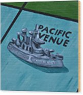 Battle Ship Wood Print