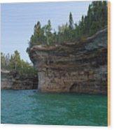 Battleship Row Rocks Wood Print
