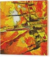 Star Wars X-wing Fighter - Oil Wood Print