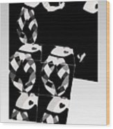 Bauhaus Ballet 2 The Cubist Harlequin Wood Print