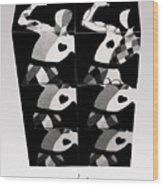 Bauhaus Ballet Six Wood Print