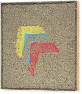 Bauhaus Symbol Paving Stone Wood Print