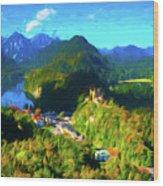 Bavarian Countryside Wood Print