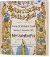 Bavarian Volksfest New York Vintage Poster 1897 Wood Print