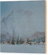 Bavarian Winter Wood Print