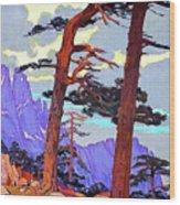 Bavella, Corsica, France Wood Print