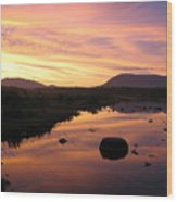 Baxter State Park At Sunset Wood Print