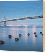 Bay Bridge Blues, San Francisco Wood Print
