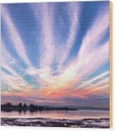 Bay Farm Island Sunrise Wood Print