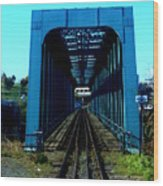 Bay Of Fundy Train Trestle Wood Print